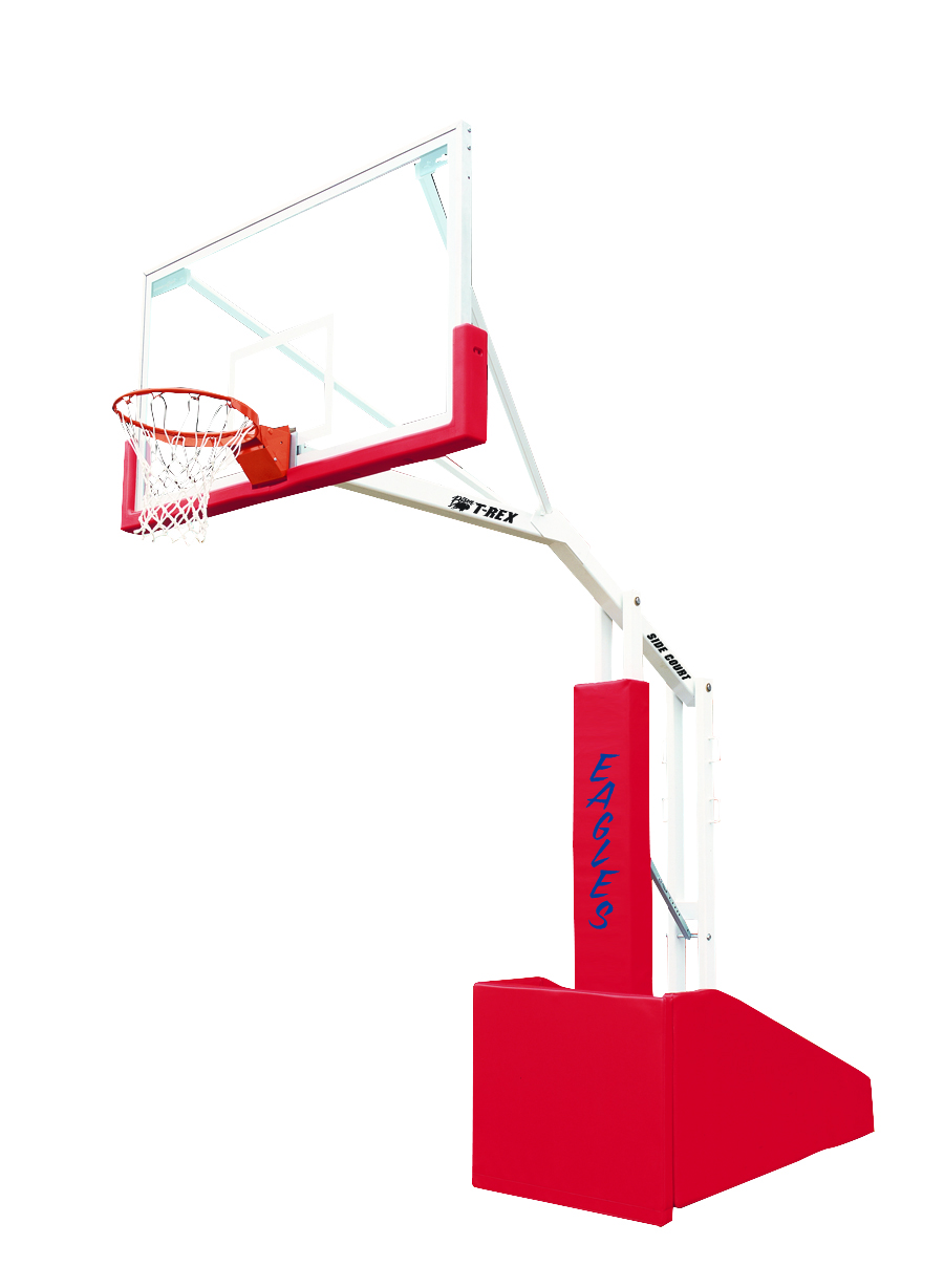 T Rex Side Court Portable Basketball System Bison Inc