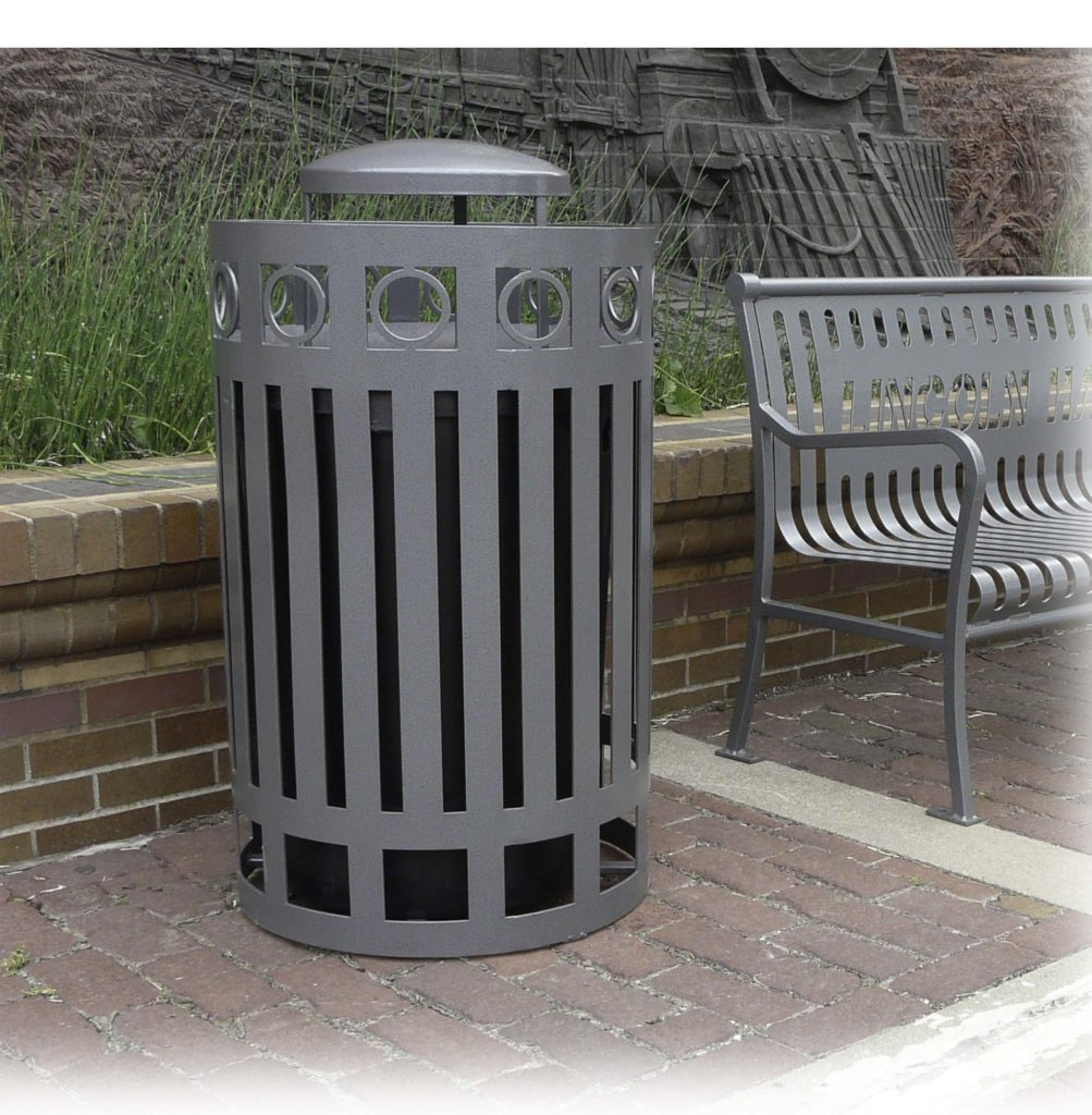 Ashebrooke top load round litter receptacle 1