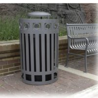 Ashebrooke top load round litter receptacle