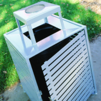 Ashebrooke side load square litter receptacle