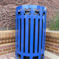 Ashebrooke top load round recycling receptacle