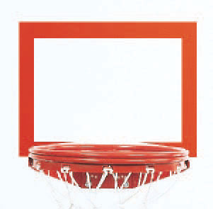 Orange Replacement Backboard Shooters Square 1