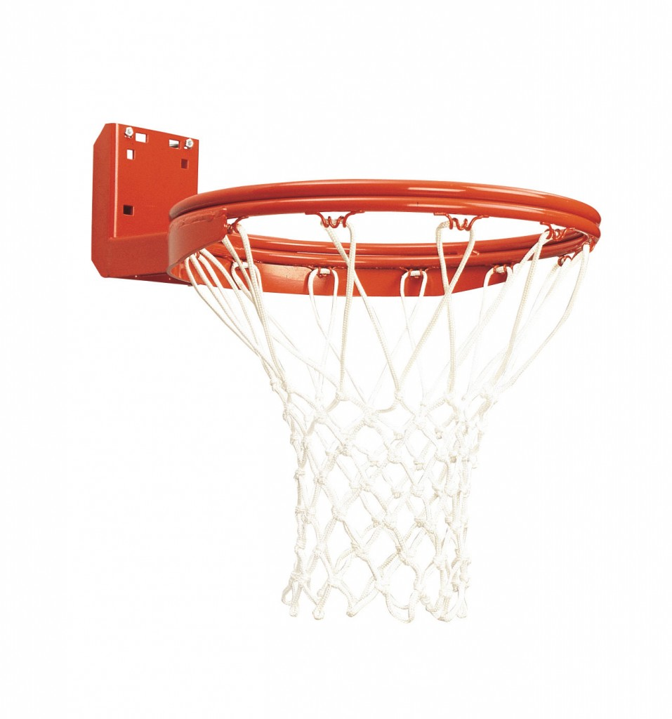 Rear Mount Double-Rim Basketball Goal with No-Tie Netlocks 1