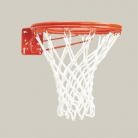 Front Mount Double-Rim Basketball Goal with No-Tie Netlocks