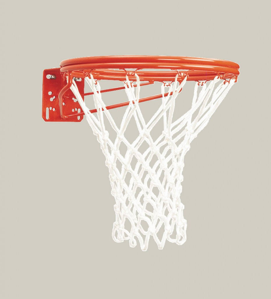 Front Mount Double-Rim Basketball Goal with No-Tie Netlocks 1