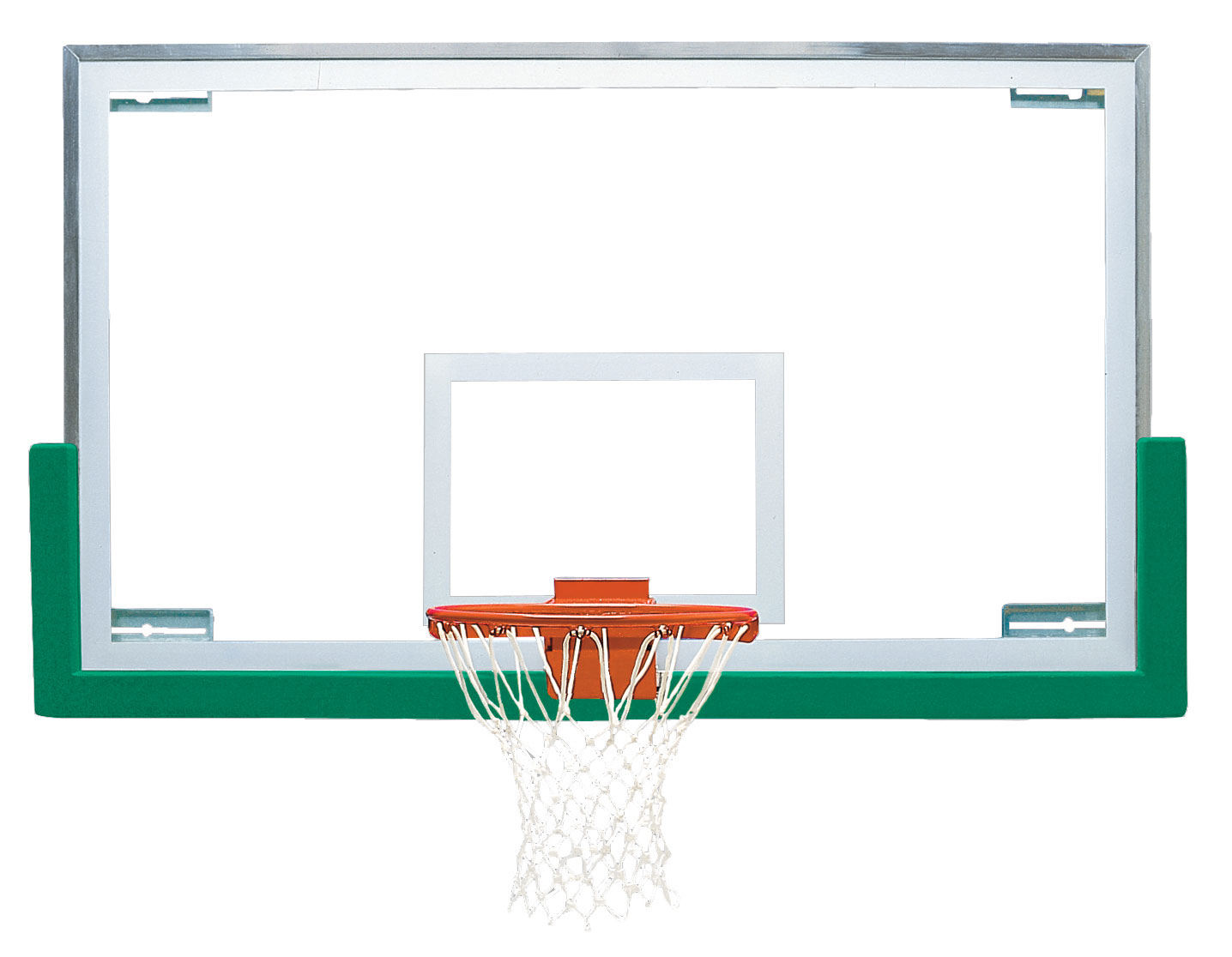 42 x 72 unbreakable short glass backboard bison inc for Basketball gym dimensions