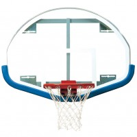"39"" x 54"" Extended Life Competition Fan-Shaped Glass Backboard"
