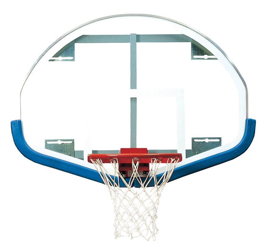 39″ x 54″ Extended Life Competition Fan-Shaped Glass Backboard 1