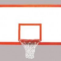 "42"" x 72"" Tuffglass Fiberglass Rectangular Backboard"