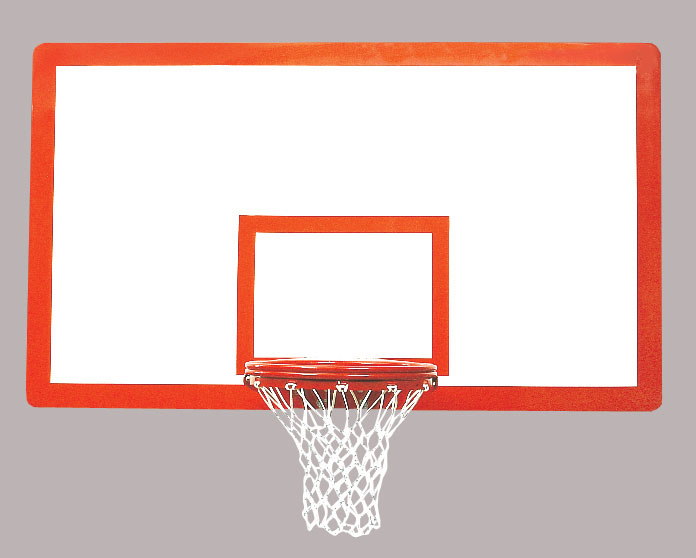 42″ x 72″ Tuffglass Fiberglass Rectangular Backboard 1