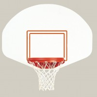 "39"" x 54"" Rust Free Polyethylene Fan-Shaped Backboard"