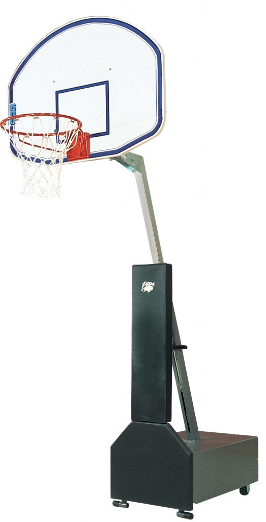 Club Court Fiberglass Adjustable Portable Basketball System 1