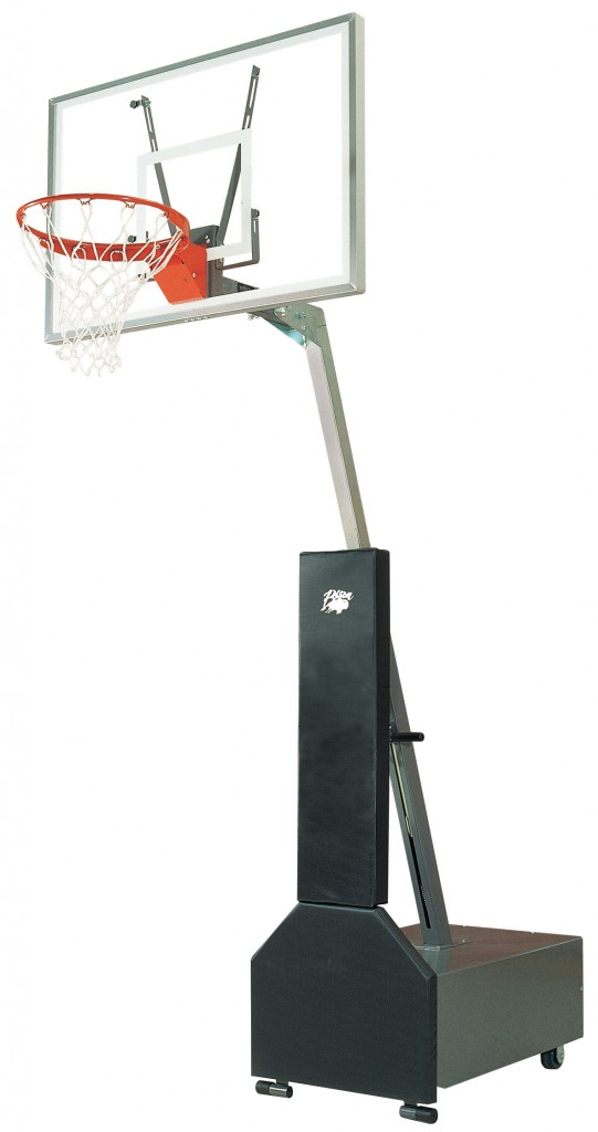 Club Court Acrylic Adjustable Portable Basketball System 1