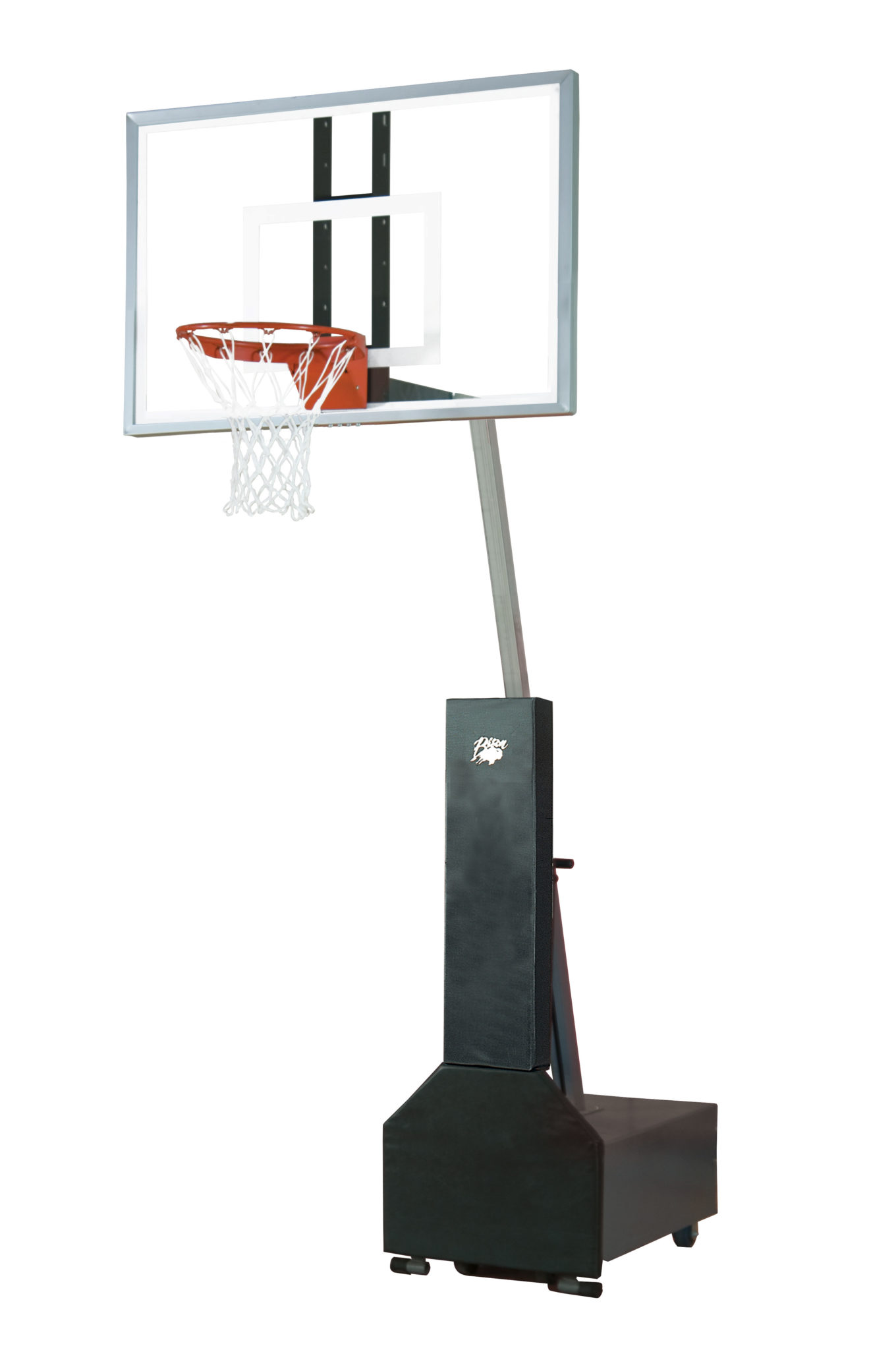Club court glass portable adjustable basketball system for Indoor basketball court installation