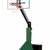 Acrylic Max Portable Adjustable Basketball System--4 Stock Padding Colors