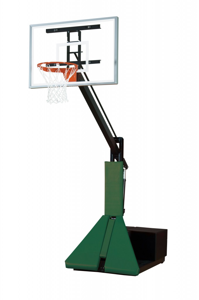 Acrylic Max Portable Adjustable Basketball System–4 Stock Padding Colors 1
