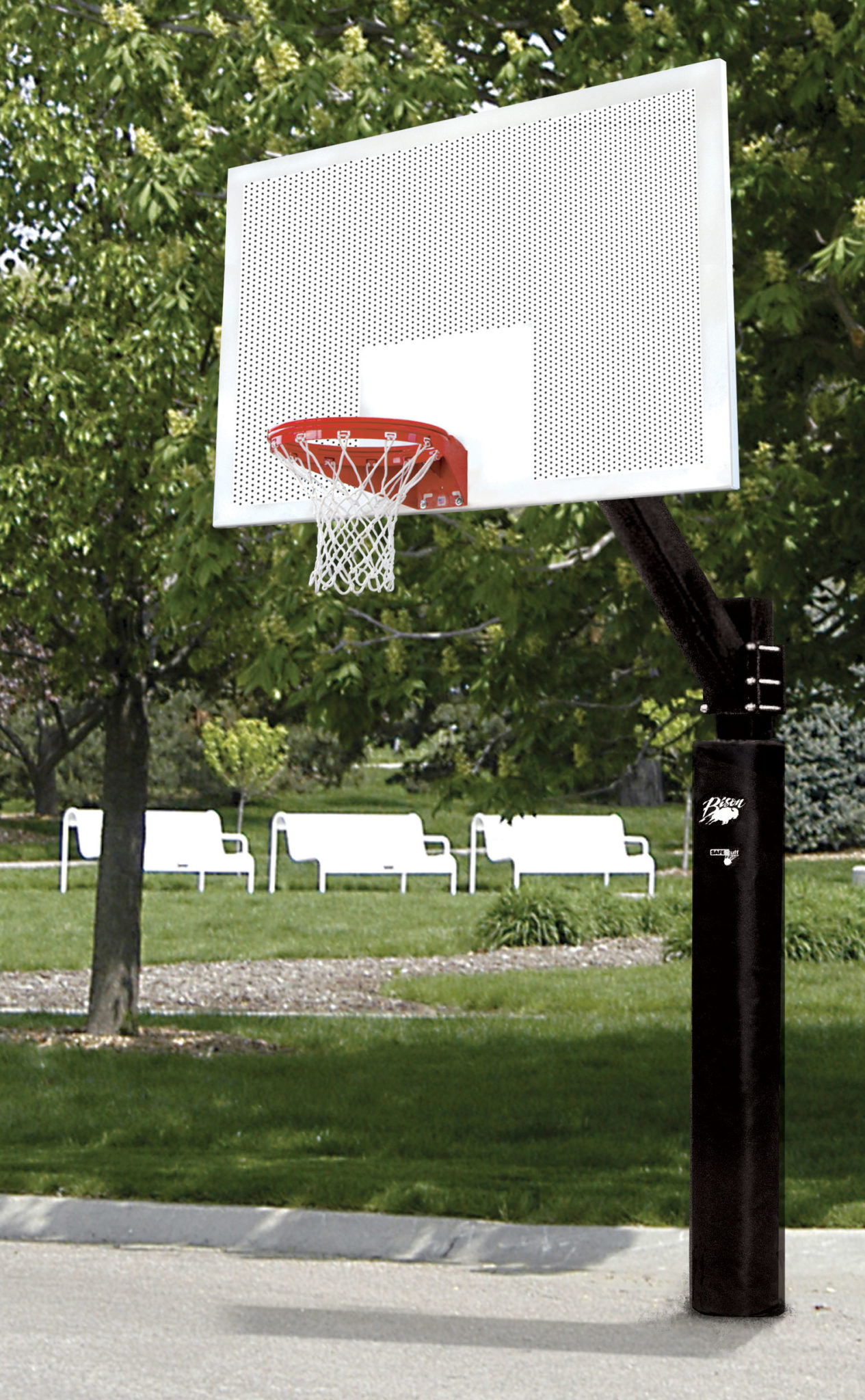 Ultimate Perforated Steel Basketball System Bison Inc