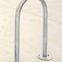 Flip Up 2-bike rack in stainless steel