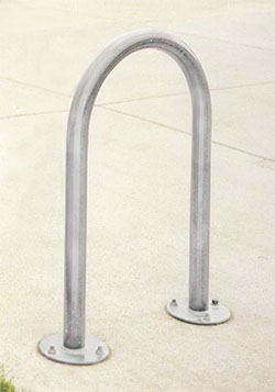 Flip Up 2-bike rack in stainless steel 1