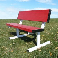 All Aluminum Portable School Color 4' Player Bench