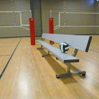 All Aluminum Portable 15' Player Bench w/ Back