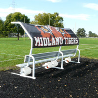 Portable 15' No Tip Covered Bench w/Graphic Cover