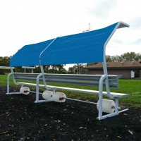 Portable 15' No Tip Covered Bench w/Solid Color Cover