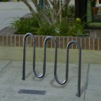 Wave 7-bike rack in stainless steel