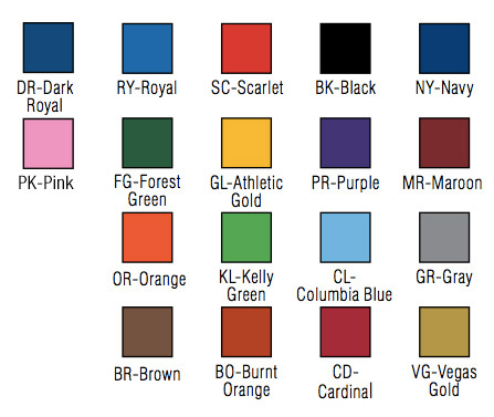 Bison Offers 18 School Colors And Full Color Graphics