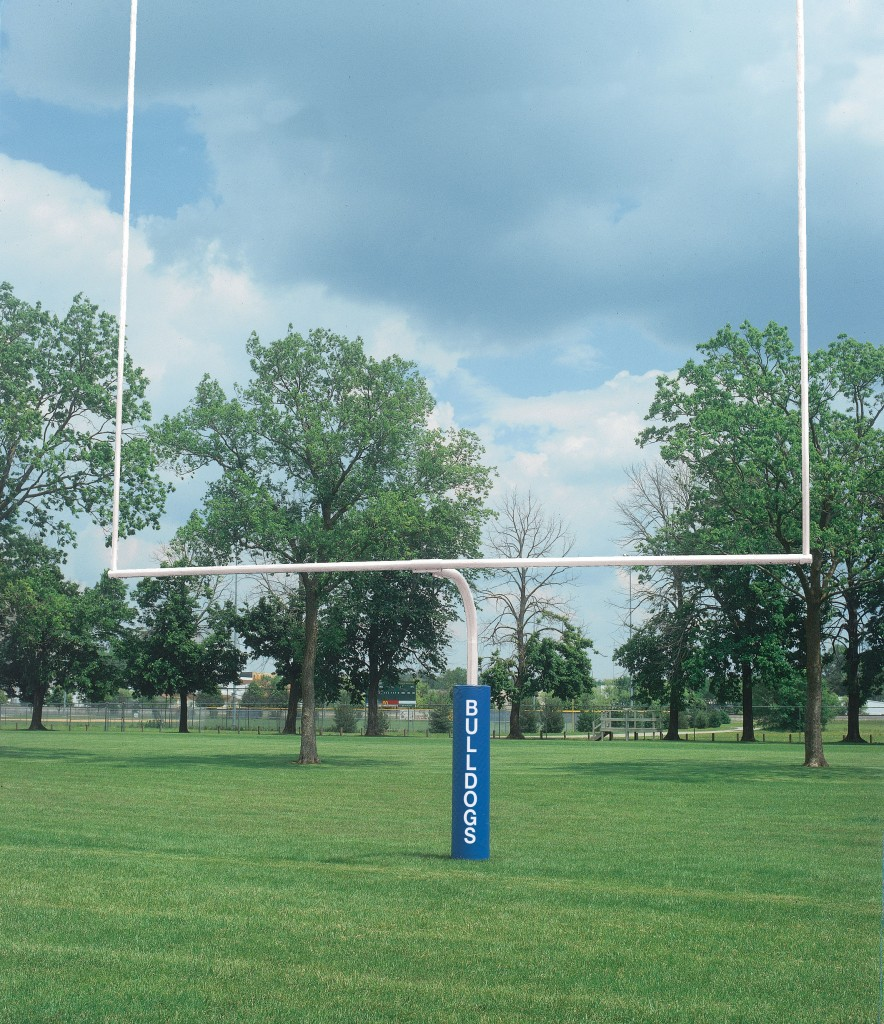 4 1/2″ White High School Football Goalposts 1