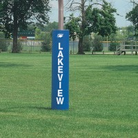 "Competition 5"" Thick Football Goal Post Pads.  Available in Royal, Dark Royal,"