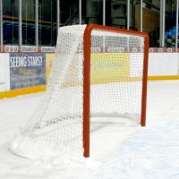 Competition Ice Hockey Goals with Nets, Cushions and Steel Freeze Pins (Pair)