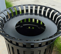 Manchester top load round 32 gallon litter receptacle
