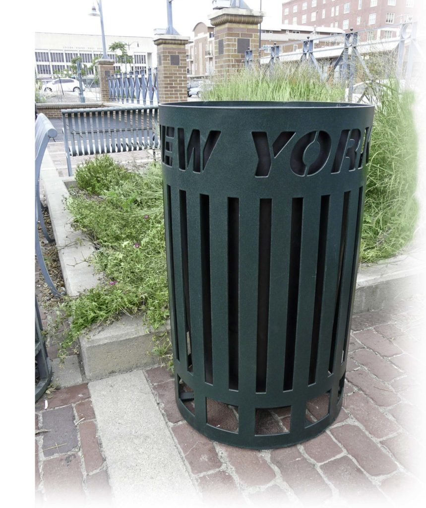 Private Collection customizable top load round litter receptacle 1