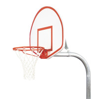 "3 1/2"" Tough Duty Finished Aluminum Fan Playground Basketball System"