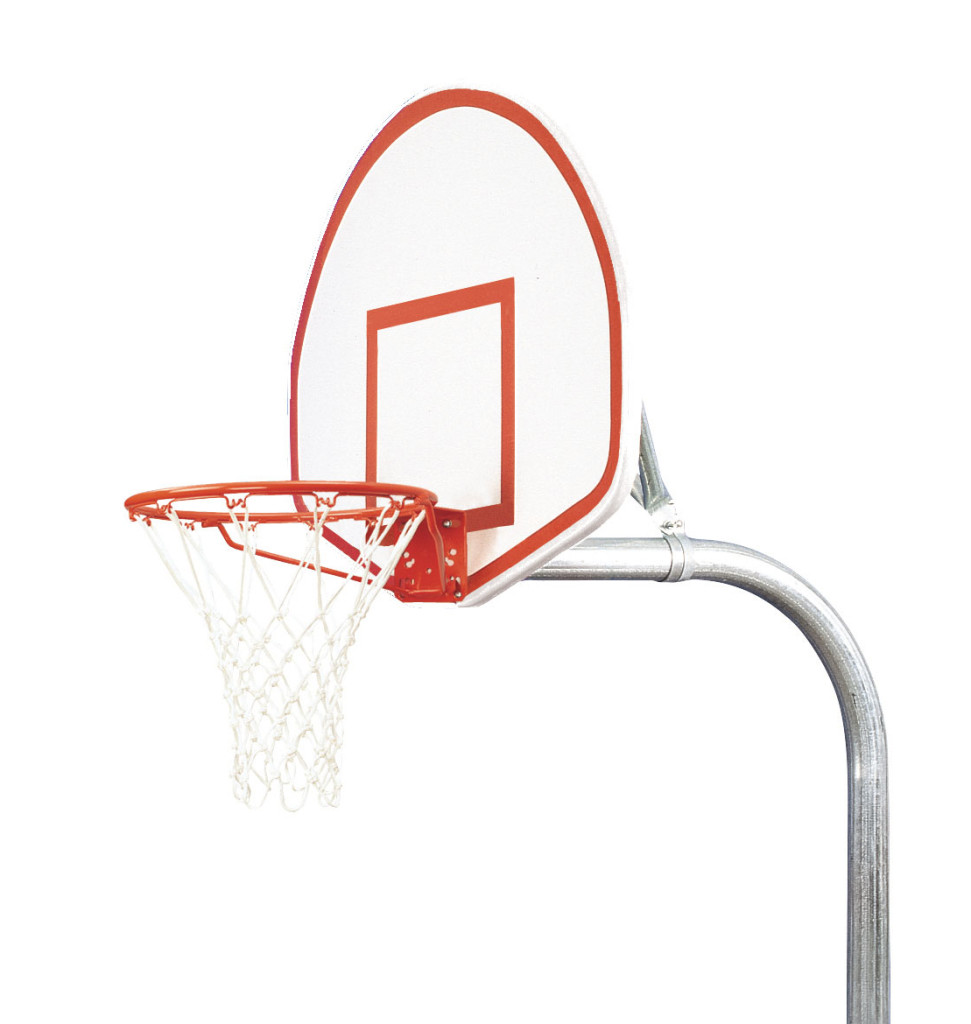 3 1/2″ Tough Duty Finished Aluminum Fan Playground Basketball System 1