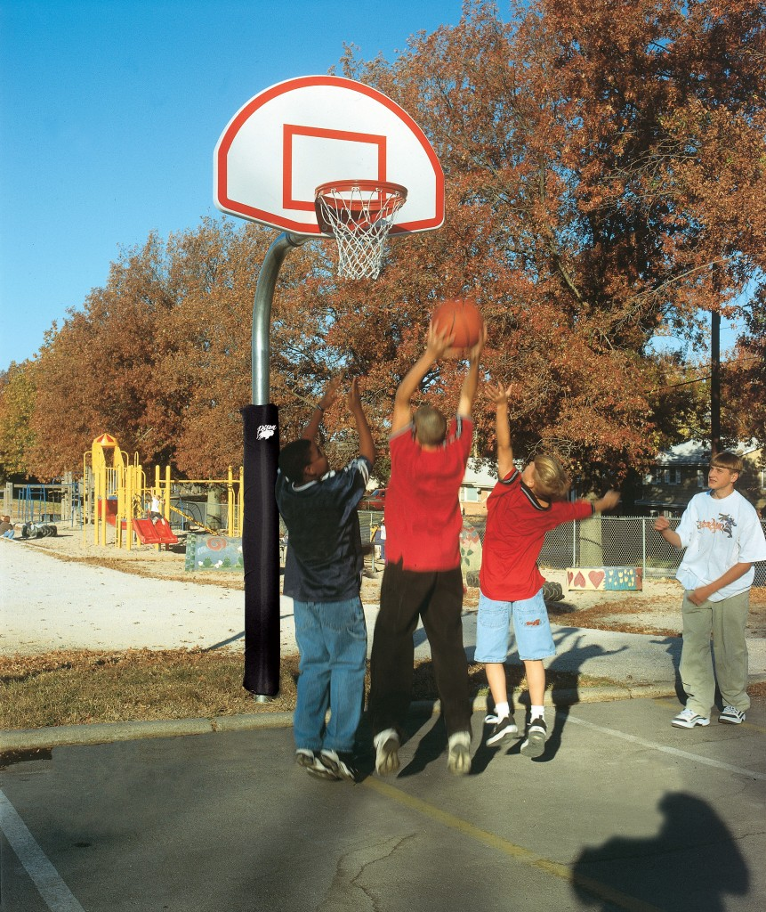 4 1/2″ Heavy Duty Finished Aluminum Fan Playground Basketball System 1