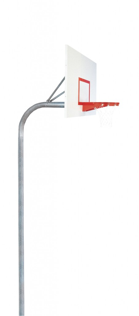 4 1/2″ Heavy Duty Steel Rectangle Playground Basketball System 1