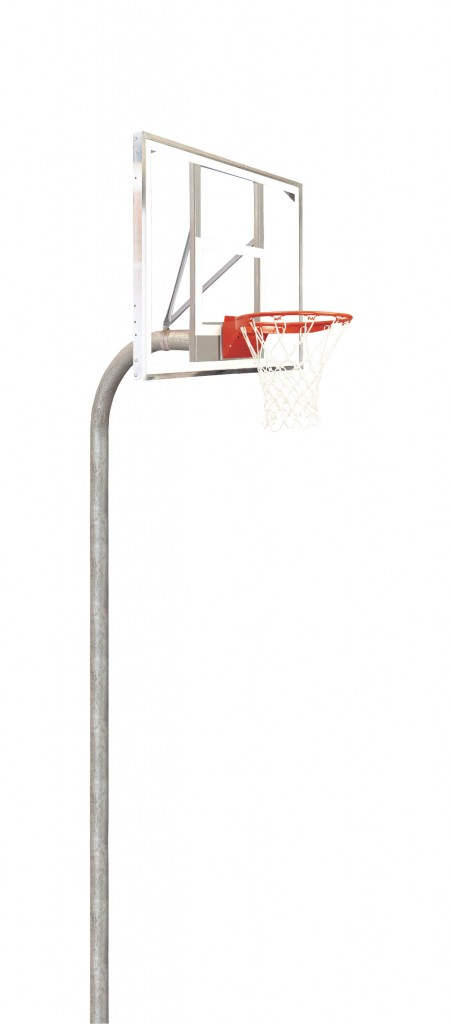 4 1/2″ Heavy Duty Polycarbonate Rectangle Playground Basketball System 1