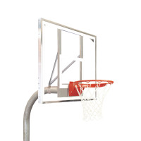 "4 1/2"" Heavy Duty Polycarbonate Rectangle Playground Basketball System"