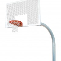 "5 9/16"" Mega Duty 42""x72"" Perforated Steel Playground Basketball System"