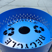 Suspension standard perforated suspension litter receptacle 2
