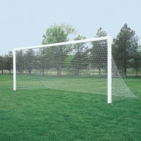 24' x 8' Competition Aluminum Permanent/Semi-permanent In-Ground Soccer Goals