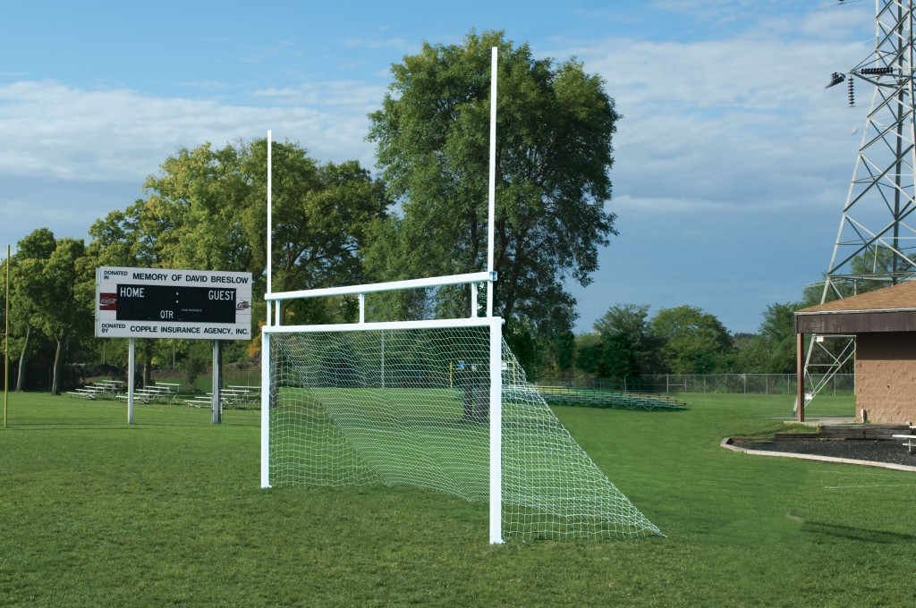Combo Soccer/Football In-Ground Aluminum Goals  1