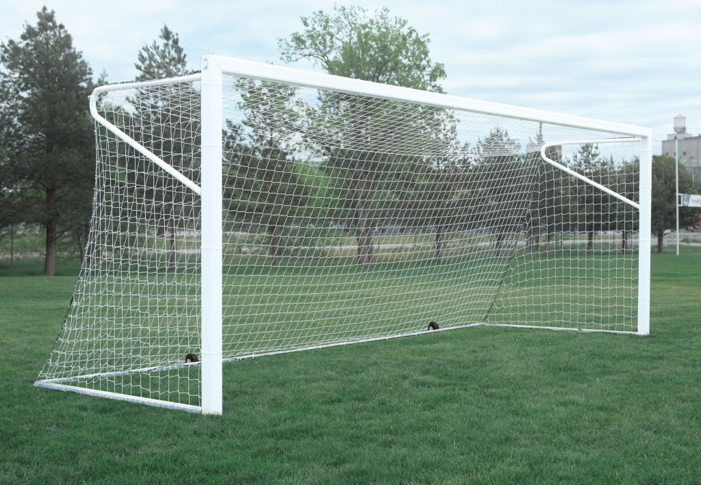 24′ x 8′ Fold and Store Portable ShootOut Soccer Goals 1