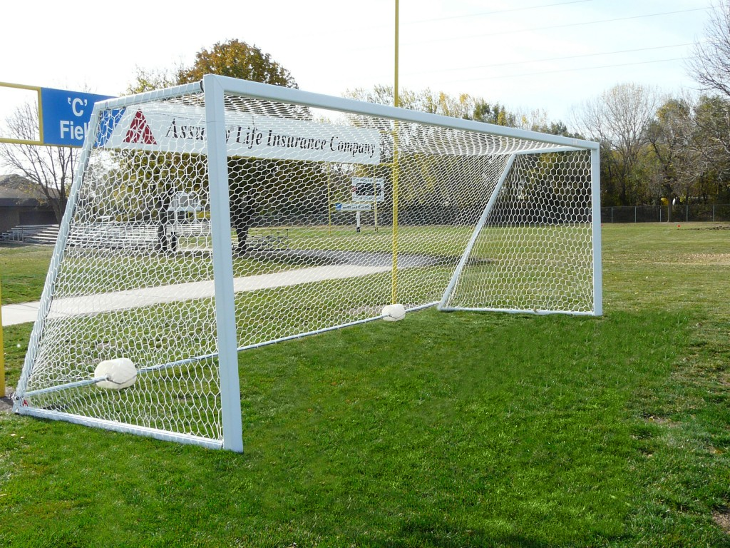 All Aluminum No Tip 24′ x 8′ Competition 4″ x 4″ Portable Soccer Goals 1