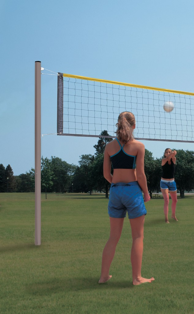 Aluminum Recreational Volleyball System 1