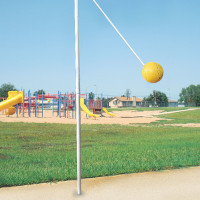 Outdoor In ground Tetherball Game Set
