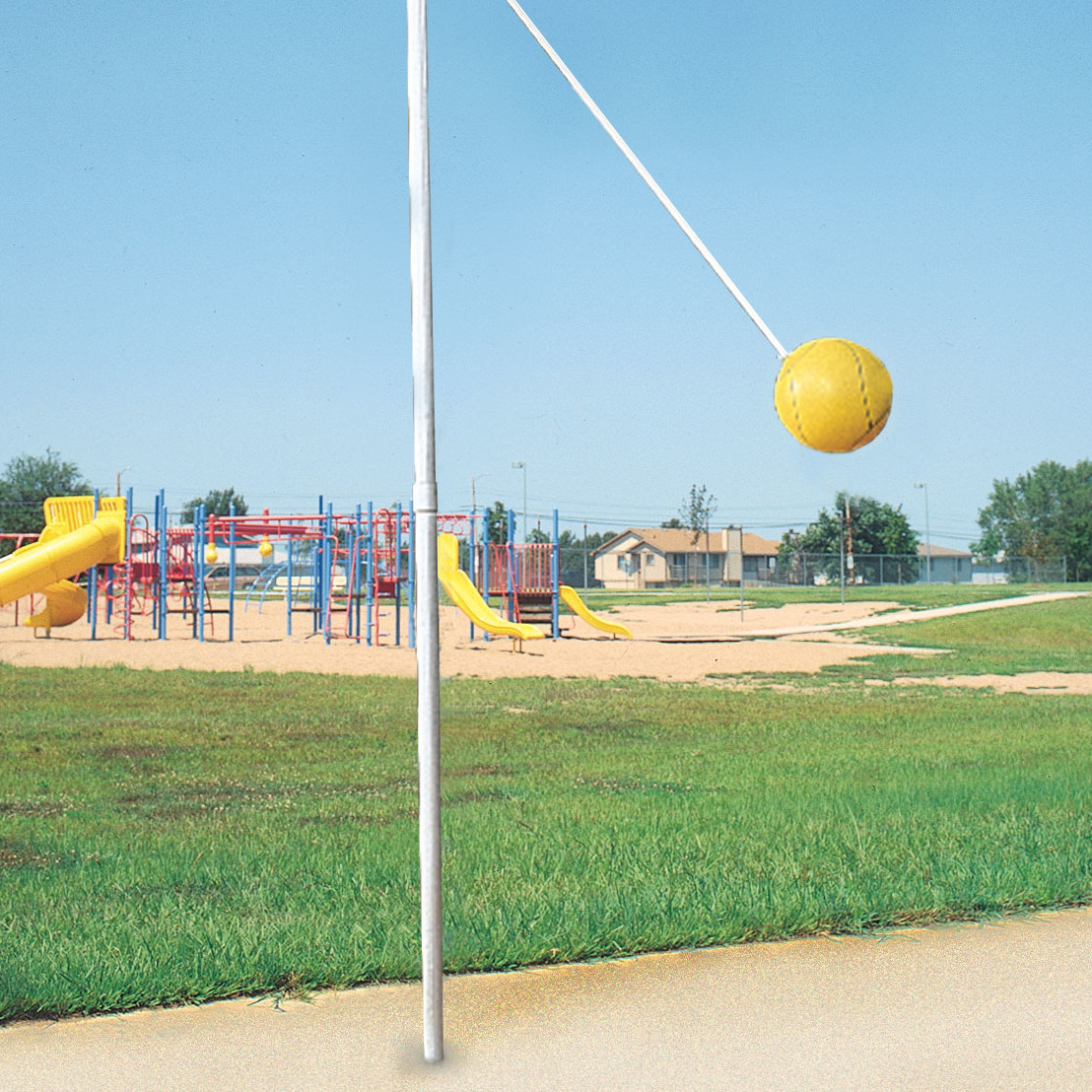Outdoor In-Ground Tetherball Game Set - Bison, Inc.