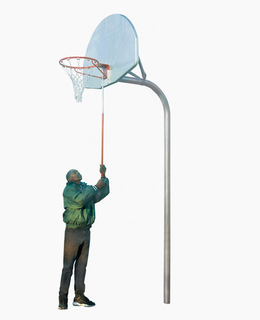 Removable Basketball Goal & Bracket Package 1
